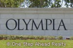 Olympia community sign